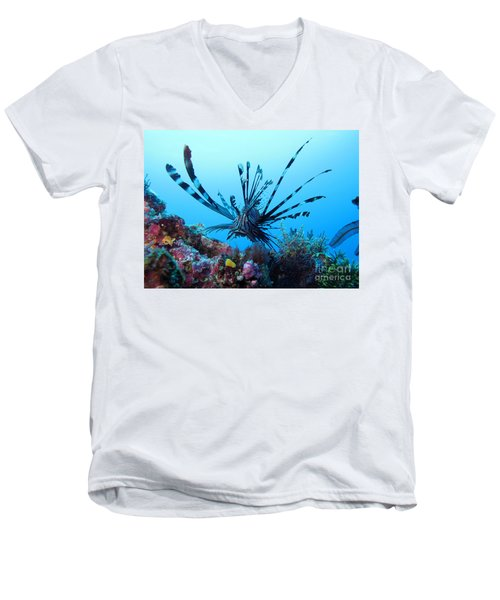 Men's V-Neck T-Shirt featuring the photograph Leon Fish by Sergey Lukashin