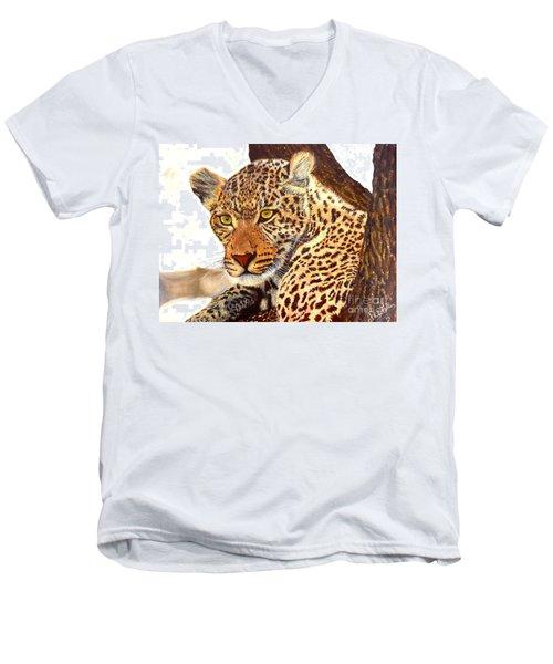 Leopard Point Of View Men's V-Neck T-Shirt