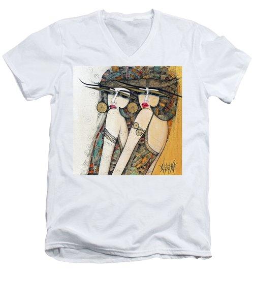 Les Demoiselles Men's V-Neck T-Shirt
