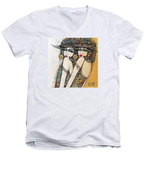 Les Demoiselles Men's V-Neck T-Shirt