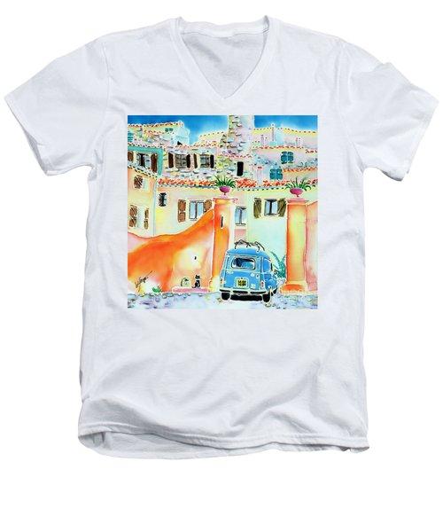 Les Voisins Men's V-Neck T-Shirt