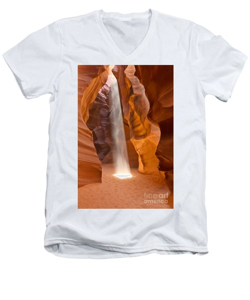 Men's V-Neck T-Shirt featuring the photograph Let The Light Shine by Bryan Keil
