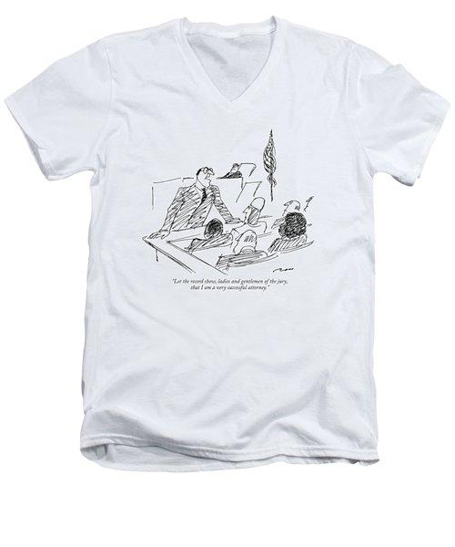 Let The Record Show Men's V-Neck T-Shirt
