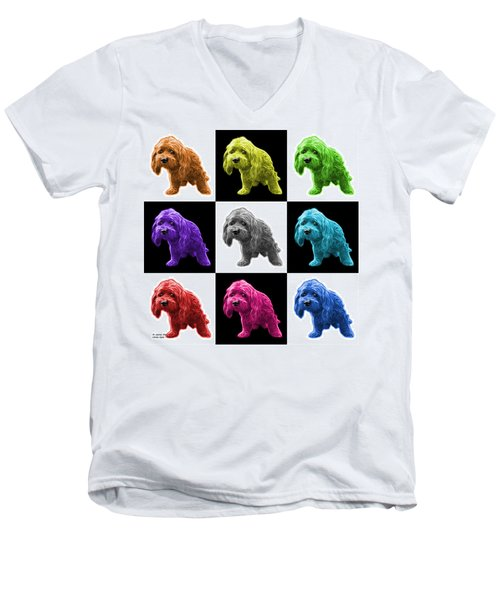 Lhasa Apso Pop Art - 5331 - V2- M Men's V-Neck T-Shirt