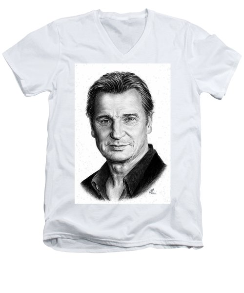 Liam Neeson Men's V-Neck T-Shirt