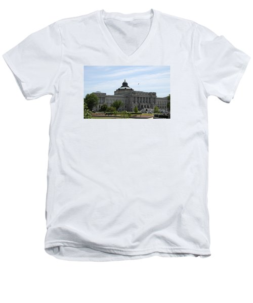 Library Of Congress  Men's V-Neck T-Shirt by Christiane Schulze Art And Photography