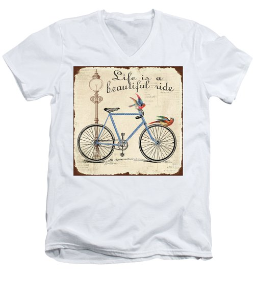 Life Is A Beautiful Ride Men's V-Neck T-Shirt by Jean Plout