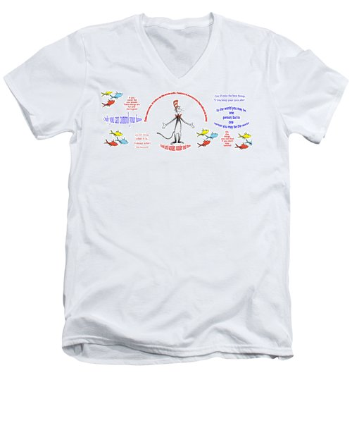 Life Words - Dr Seuss Men's V-Neck T-Shirt