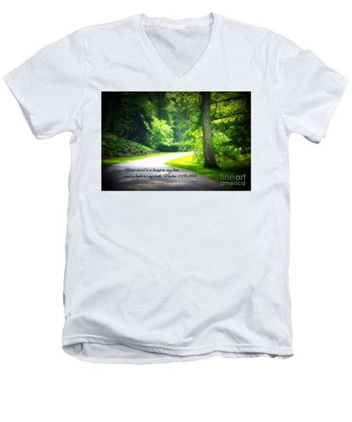 Light To My Path Men's V-Neck T-Shirt