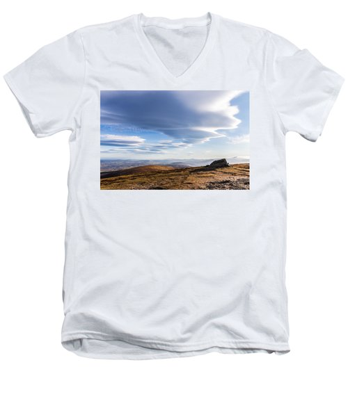 Lightfall On Djouce Mountain Summit Men's V-Neck T-Shirt