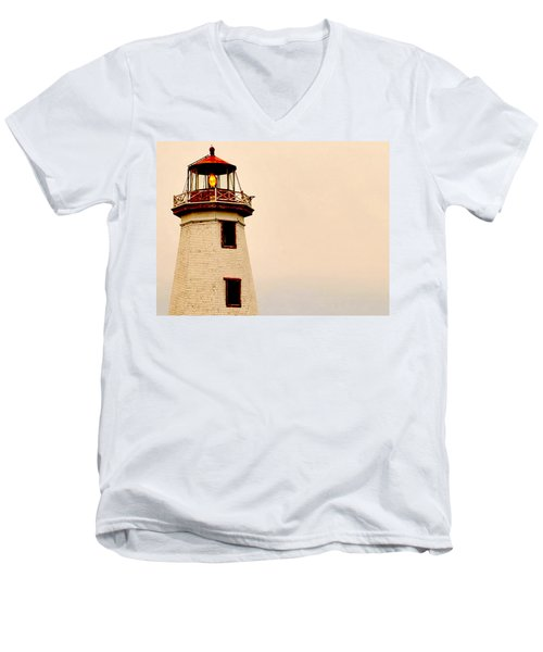 Lighthouse Beam Men's V-Neck T-Shirt