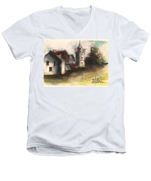Lighthouse By Day Men's V-Neck T-Shirt