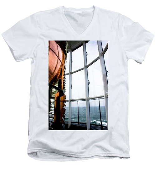 Lighthouse Lens Men's V-Neck T-Shirt