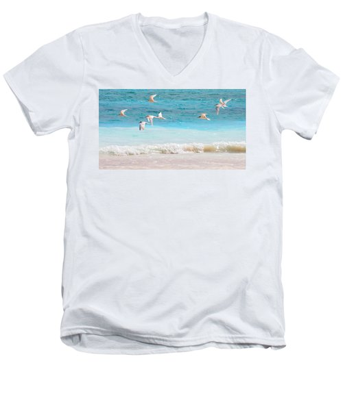 Like Birds In The Air Men's V-Neck T-Shirt