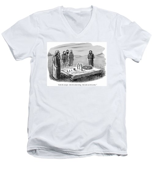 Like The Concept.  Like The Whole Thing.  But Men's V-Neck T-Shirt
