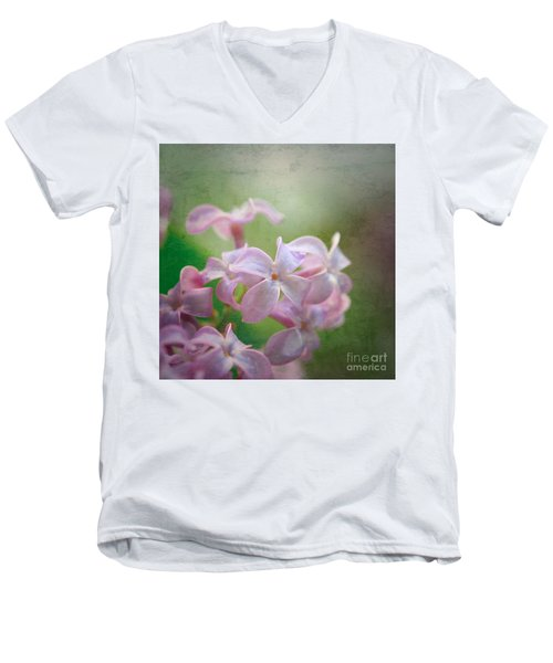 Lilac Dreaming  Men's V-Neck T-Shirt by Kerri Farley