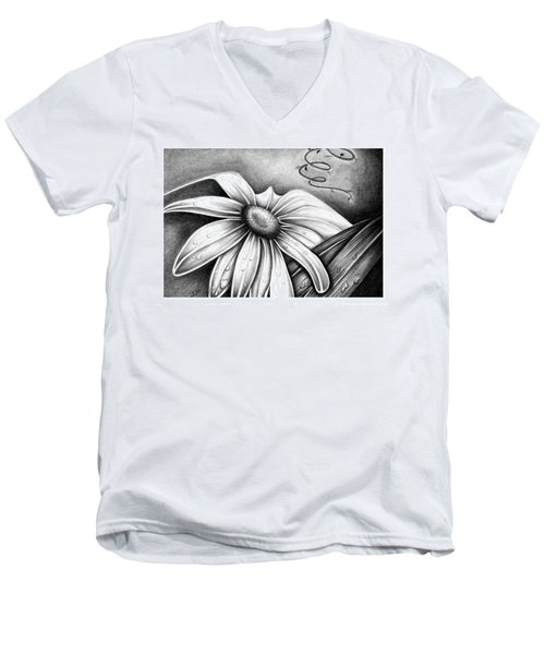 Lily Flower Men's V-Neck T-Shirt