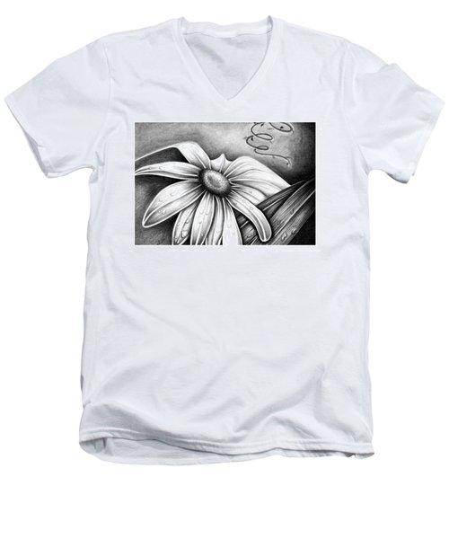 Lily Flower Men's V-Neck T-Shirt
