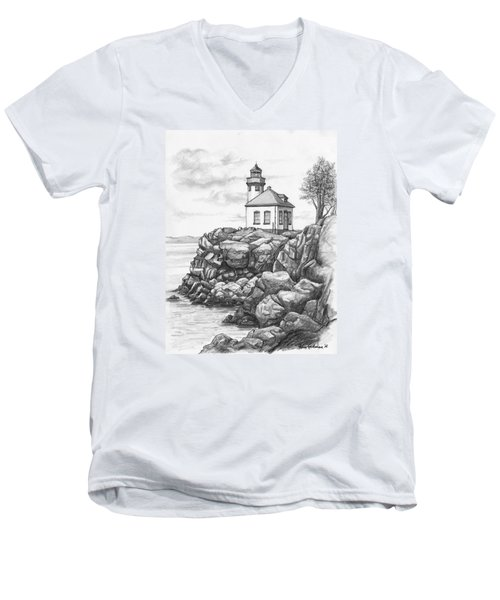Lime Kiln Lighthouse Men's V-Neck T-Shirt