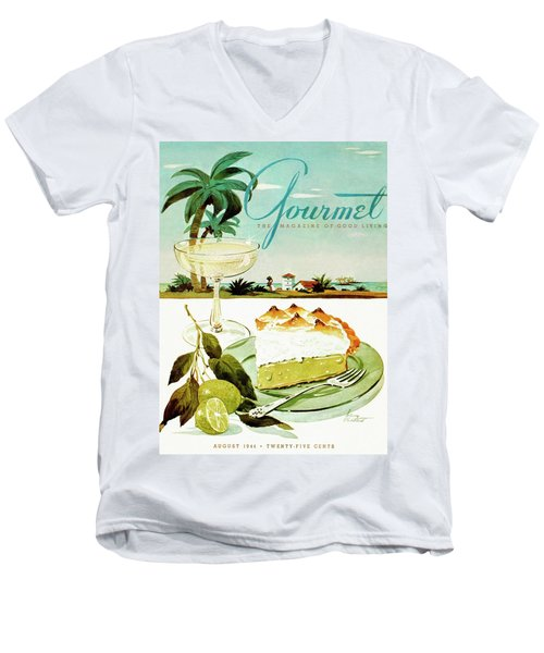 Lime Meringue Pie With Champagne Men's V-Neck T-Shirt