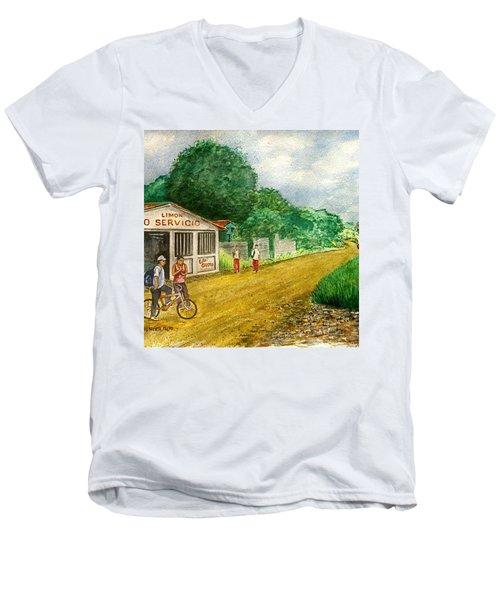 Limon Costa Rica Men's V-Neck T-Shirt by Frank Hunter
