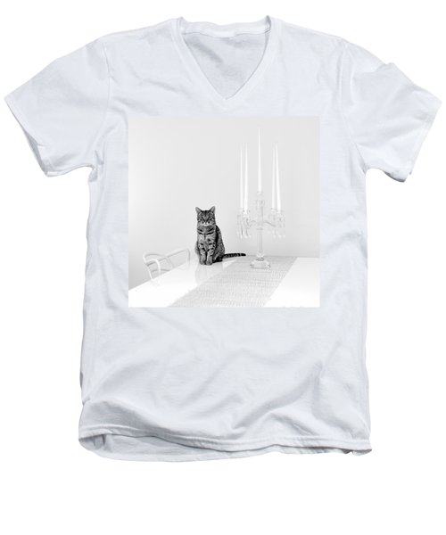 Linda Men's V-Neck T-Shirt by Ari Salmela