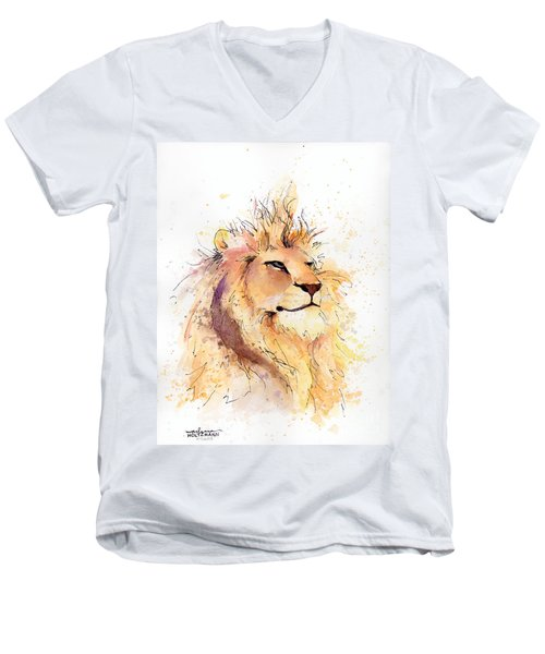 Lion 3 Men's V-Neck T-Shirt