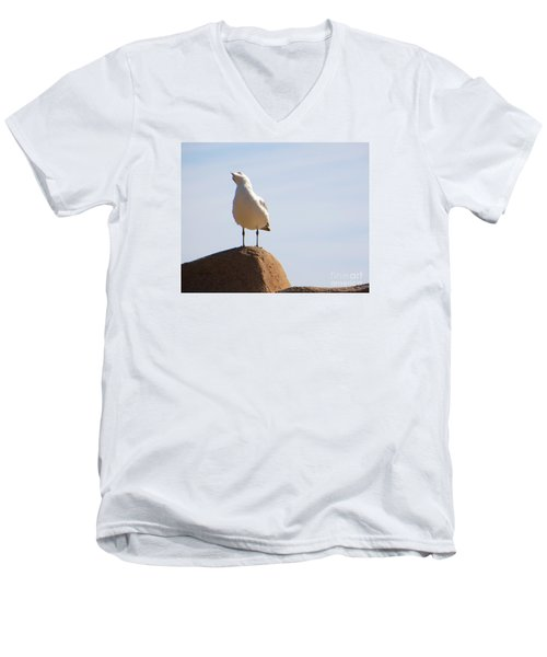 Men's V-Neck T-Shirt featuring the photograph Listen-up by Joy Hardee