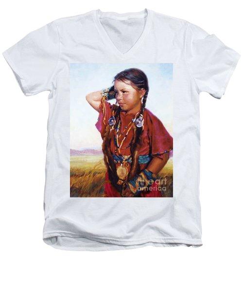 Little American Beauty II Men's V-Neck T-Shirt