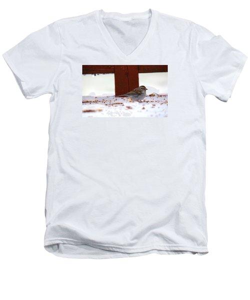 Men's V-Neck T-Shirt featuring the photograph Little Bird by Rebecca Davis