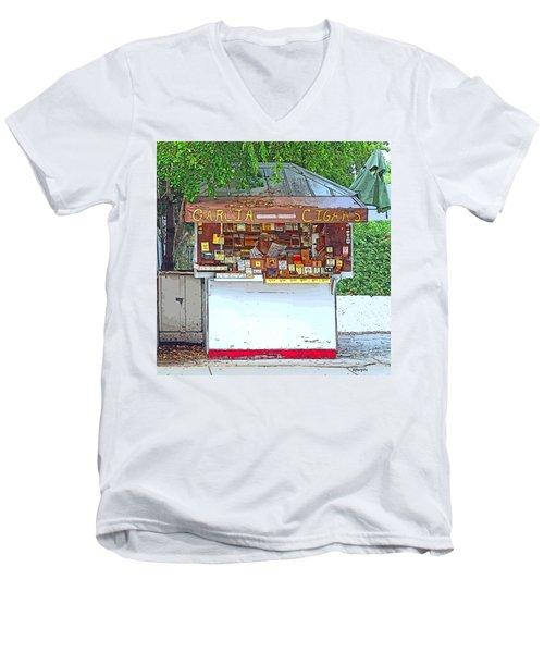 Little Cigar Shop Key West Men's V-Neck T-Shirt