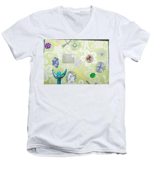 Live Joyfully Men's V-Neck T-Shirt