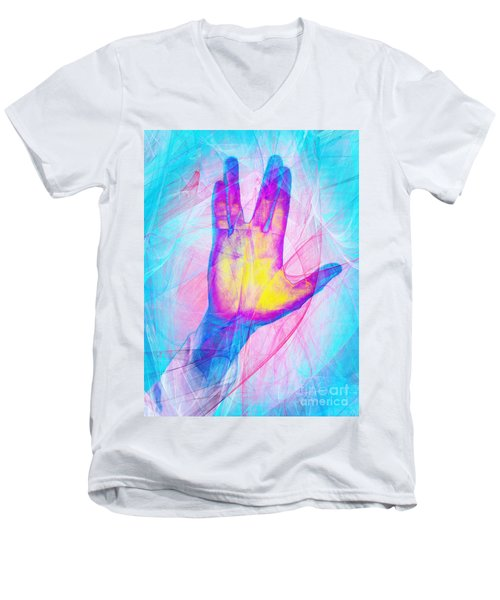 Live Long And Prosper 20150302v1 Men's V-Neck T-Shirt