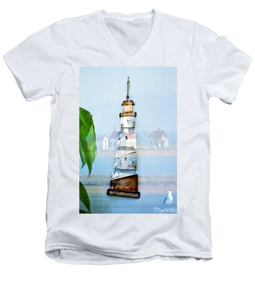Living By The Sea - Pacific Ocean Men's V-Neck T-Shirt