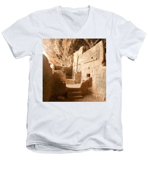 Men's V-Neck T-Shirt featuring the photograph Living In The Rocks by Kerri Mortenson