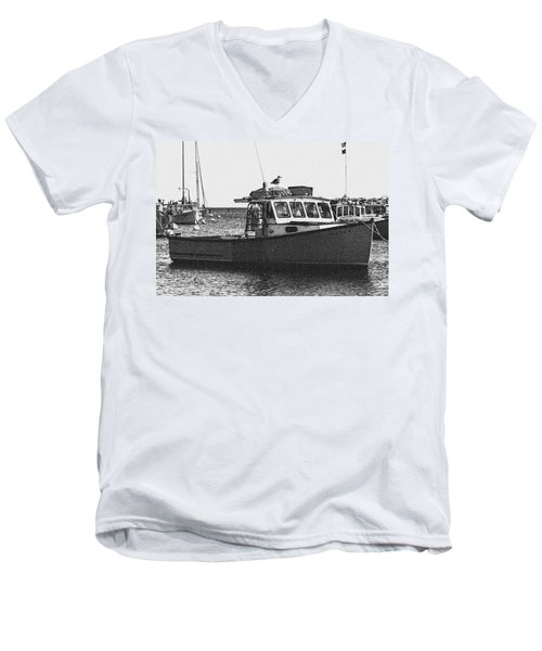 Lobster Boat Men's V-Neck T-Shirt