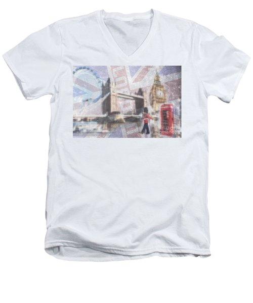 London Blue Men's V-Neck T-Shirt