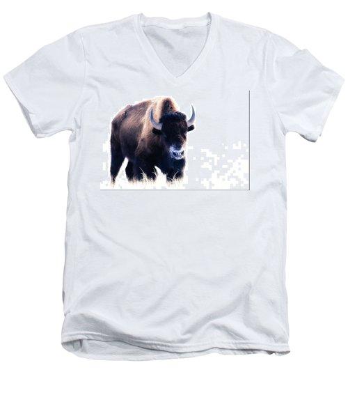 Lone Bull Men's V-Neck T-Shirt