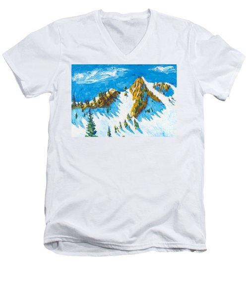 Lone Tree 1 Men's V-Neck T-Shirt