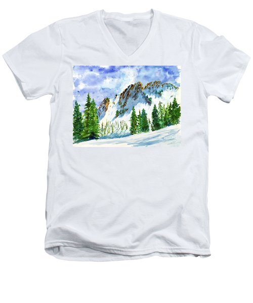 Lone Tree In The Afternoon Men's V-Neck T-Shirt