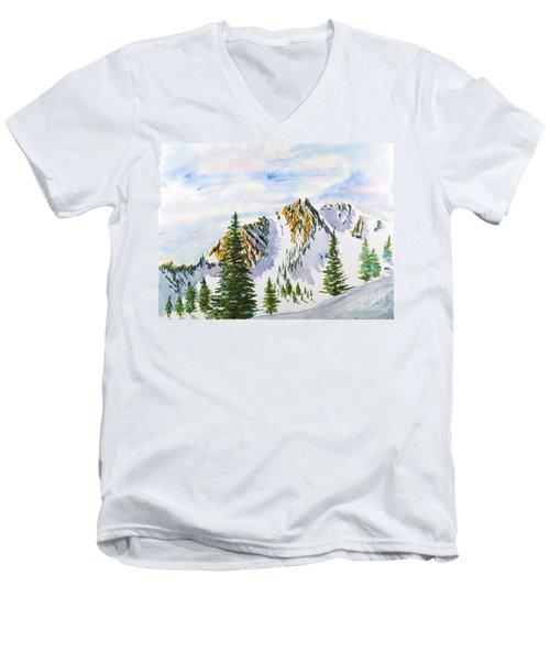 Lone Tree In The Morning Men's V-Neck T-Shirt