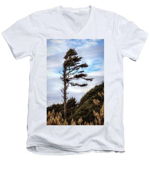 Lone Tree Men's V-Neck T-Shirt by Melanie Lankford Photography