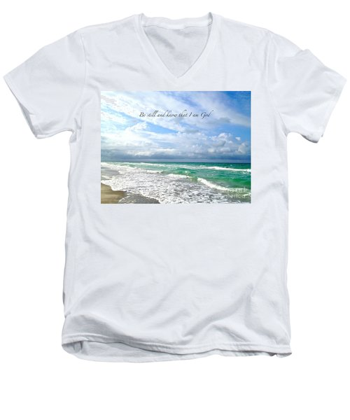 Men's V-Neck T-Shirt featuring the photograph Be Still by Margie Amberge