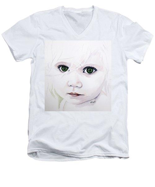 Longing Eyes Men's V-Neck T-Shirt