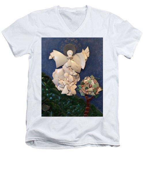 Look Unto The Hills Men's V-Neck T-Shirt