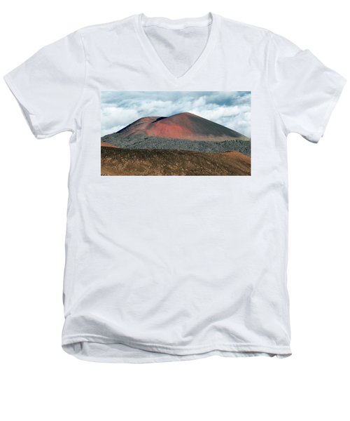 Men's V-Neck T-Shirt featuring the photograph Looking Down by Jim Thompson