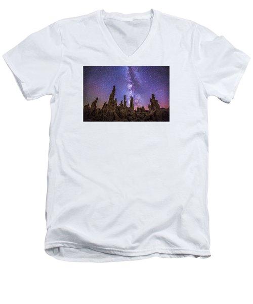 Lost Planet Men's V-Neck T-Shirt by Tassanee Angiolillo
