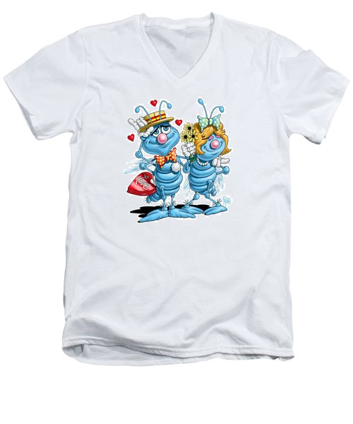 Love Bugs Men's V-Neck T-Shirt