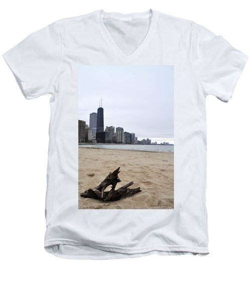 Love Chicago Men's V-Neck T-Shirt by Verana Stark