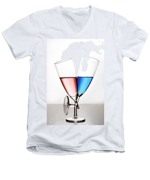 Men's V-Neck T-Shirt featuring the photograph Love by Gert Lavsen